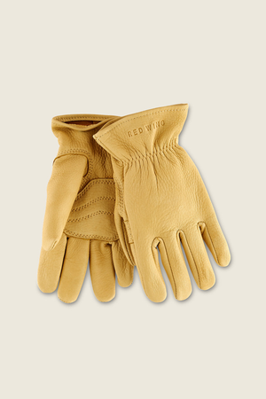 Red Wing Lined Buckskin Gloves in Yellow