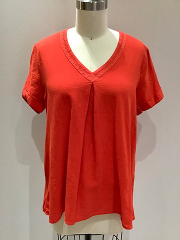 Short Sleeve Top in Red
