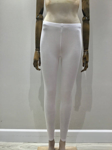Cotton Bamboo Leggings in White