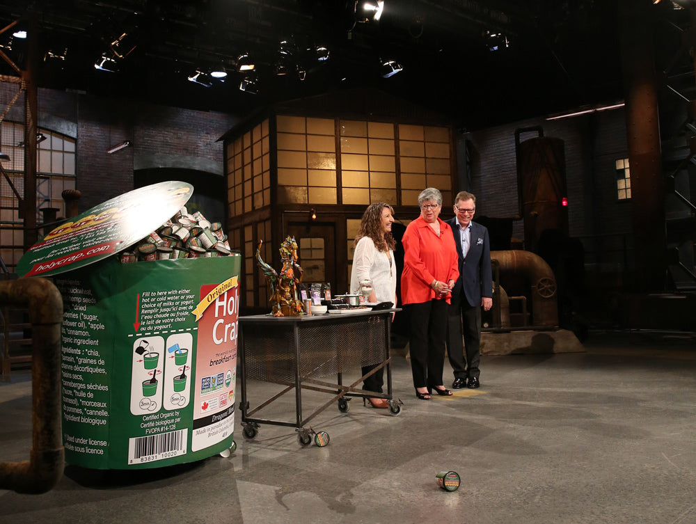 Brian and Corin Mullins on the set of the Dragons' Den in Season Ten