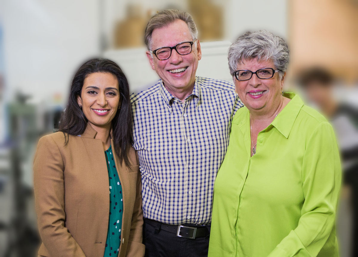 Dragon Manjit Minhas with Brian and Corin Mullins