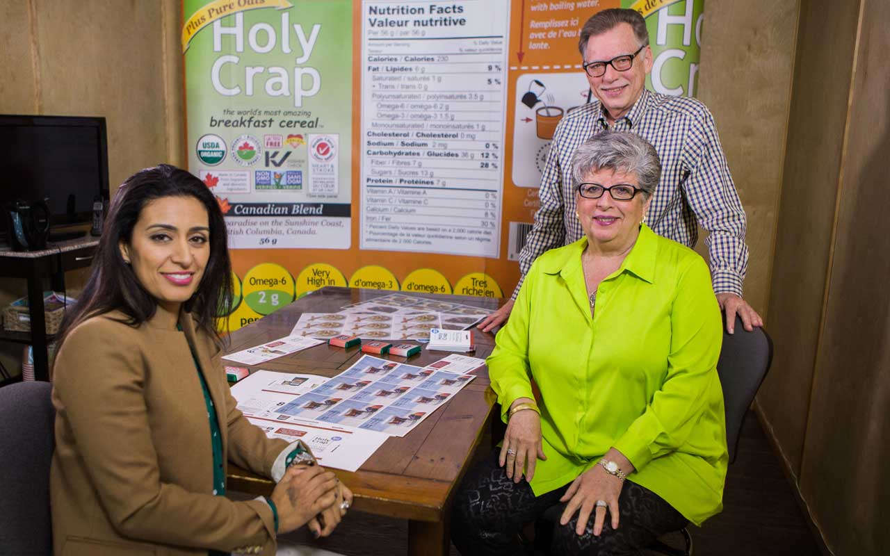 New Holy Crap Co-CEO Manjit Minhas meets with Brian and Corin Mullins