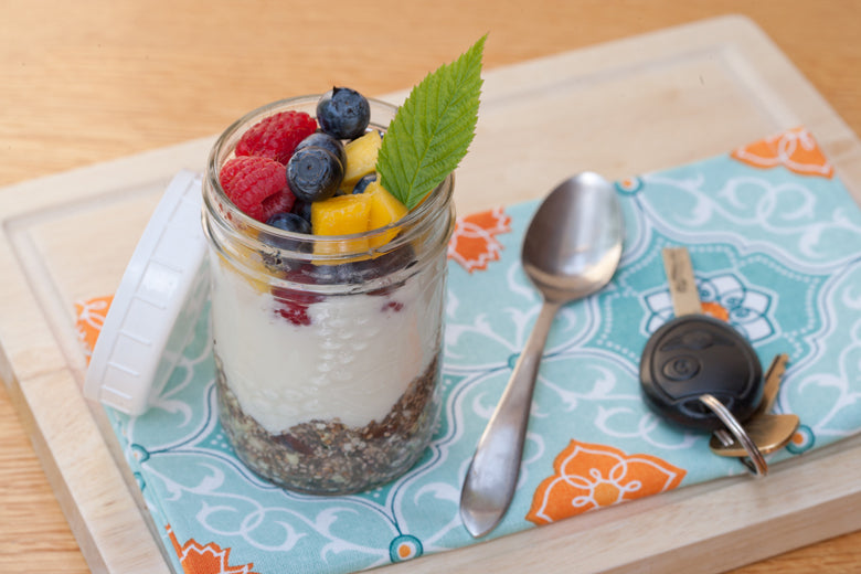 Basically Beautiful Parfait made with Holy Crap cereal