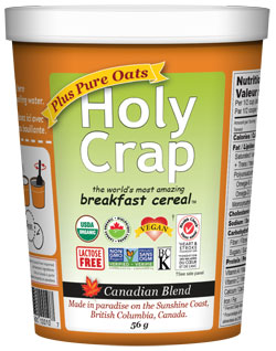 Holy Crap Plus Oats Single Serve Cereal Cup