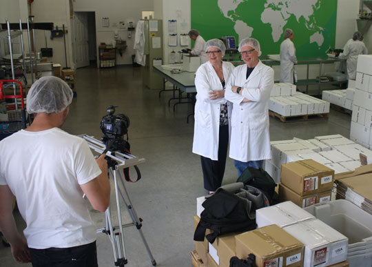 Brian and Corin Mullins at the Gibsons Factory