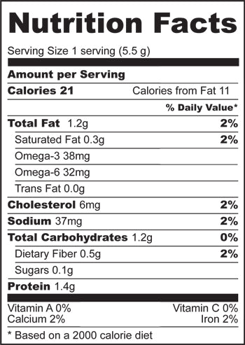 Nutrition Facts for Skinny B Crackers