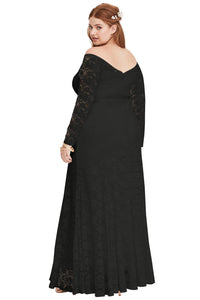 Special Occasion Black Lace Gown