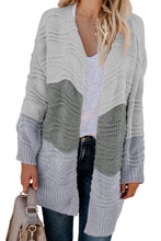Load image into Gallery viewer, Colorblock Knit Cardigan