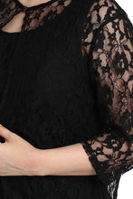 Load image into Gallery viewer, Black Nadia Plus Size Lace Dress
