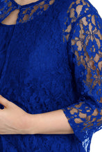 Load image into Gallery viewer, Blue Nadia Lace Dress