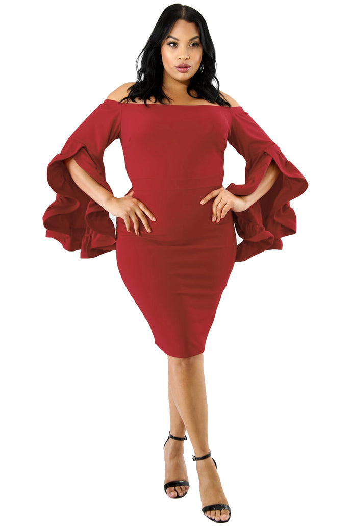 Red Plus Size Cha Cha Body-Con Dress