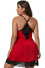 Load image into Gallery viewer, Red Venecia Chemise with Lace Trim