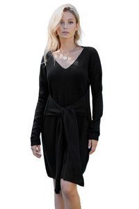 Black Tie Sweater Dress