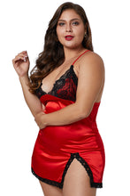 Load image into Gallery viewer, Red Satin Chemise
