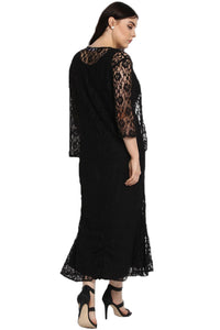Black Nadia Plus Size Lace Dress
