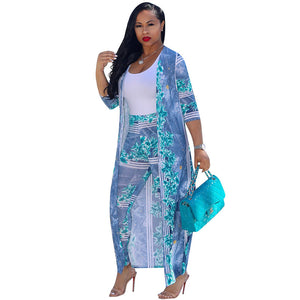 Rose Cloak and Pant 2pc Set
