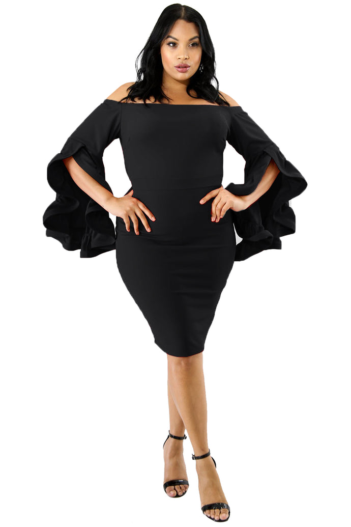 Black Cha Cha Body-Con Dress