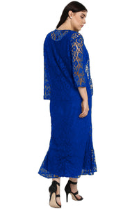Blue Nadia Lace Dress
