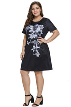 Load image into Gallery viewer, Black Floral Patterned Panel Dress