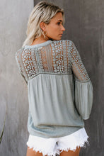 Load image into Gallery viewer, Gray The Du Jour Crochet Blouse