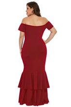 Load image into Gallery viewer, Red My Everything Plus Size Mermaid Dress