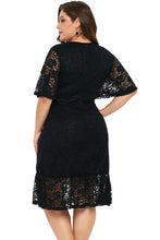 Load image into Gallery viewer, Plus Size Lace Dress (White, Black)