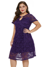 Load image into Gallery viewer, Lace Trapeze Babydoll Mini Dress
