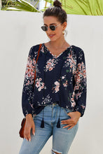 Load image into Gallery viewer, Floral Print Peasant Blouse (Colors)