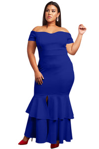 Blue My Everything Plus Size Mermaid Dress