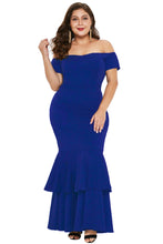 Load image into Gallery viewer, Blue My Everything Plus Size Mermaid Dress