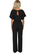 Load image into Gallery viewer, Oh So Glam Belted Wide Leg Jumpsuit ( Apricot, Black, Blue, Brown)