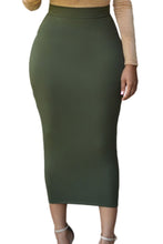 Load image into Gallery viewer, High Waist Skirt (Black, Green)