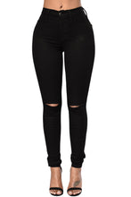 Load image into Gallery viewer, The Slit Knee Jean (White, Black, Gray, Sky Blue, Green)