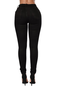 The Slit Knee Jean (White, Black, Gray, Sky Blue, Green)