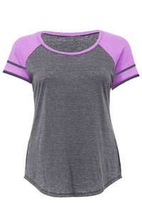 Purple Short Sleeve Plus Size Tee