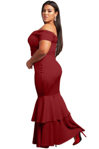 Red My Everything Plus Size Mermaid Dress