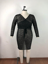 Load image into Gallery viewer, Plus Size Black See Through Party Dress