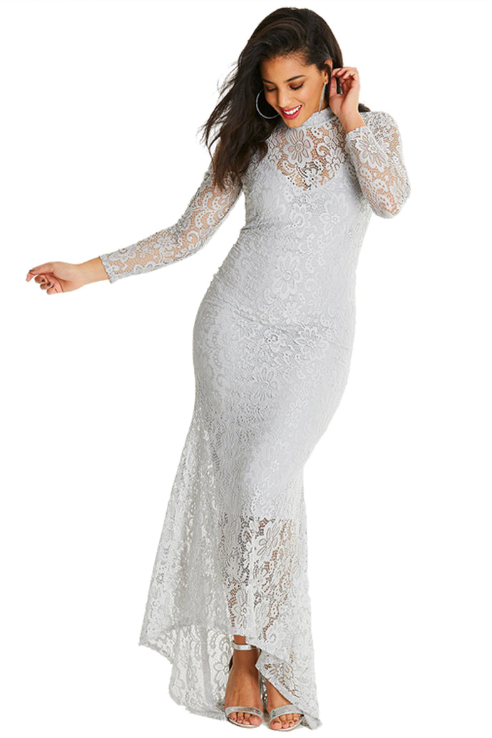 The Diva's Evening Gown-White