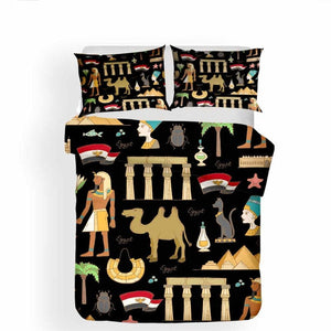 Egyptian Culture Bedding Set