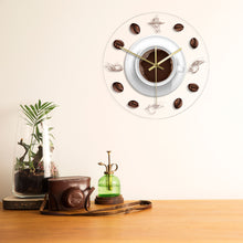 Load image into Gallery viewer, Coffee Hand & Beans Wall Clock with LED Backlight