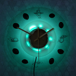 Coffee Hand & Beans Wall Clock with LED Backlight