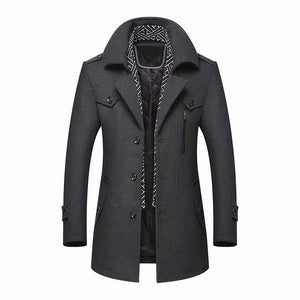 Men's Wool-Blend Overcoat