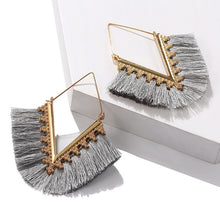 Load image into Gallery viewer, V Tassel Earrings