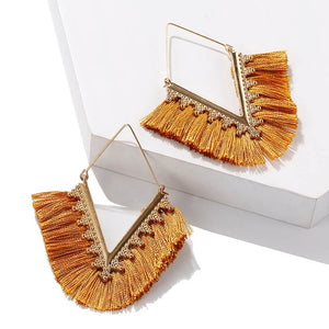 V Tassel Earrings