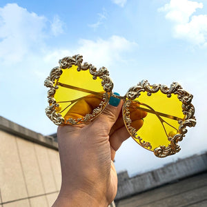 Oversized Baroque Pearl Sunglasses