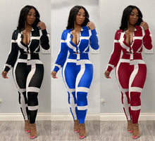 Load image into Gallery viewer, Venmé Print Stripe Two Piece Set