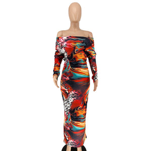 Graffiti Print Maxi Dress