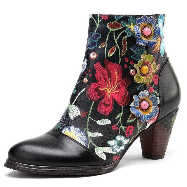 Johnature Ankle Bootie