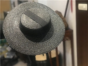 Designer Style Wide Brim with Ribbons
