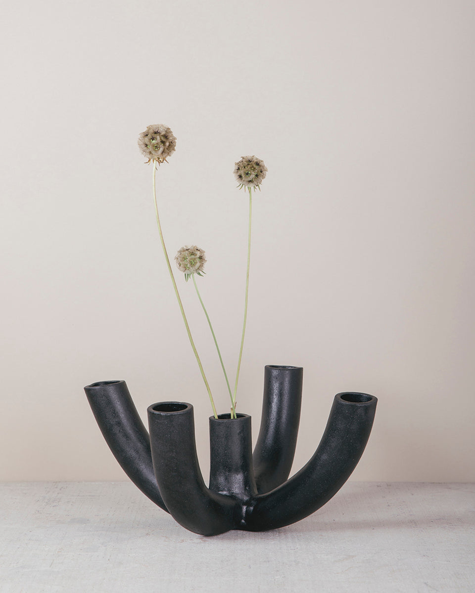 Venule 5-Way Vessel, Black